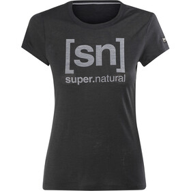 super.natural Essential I.D. Camiseta Mujer, jet black/print